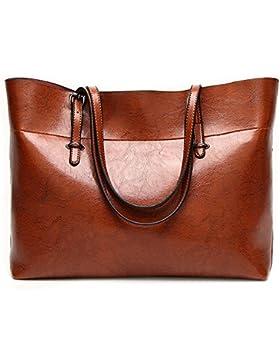 [Sponsorizzato]Tote Bag in pelle per le donne, grandi pendolari borsa spalla borsa Lady Zipper lavoro donna borsa