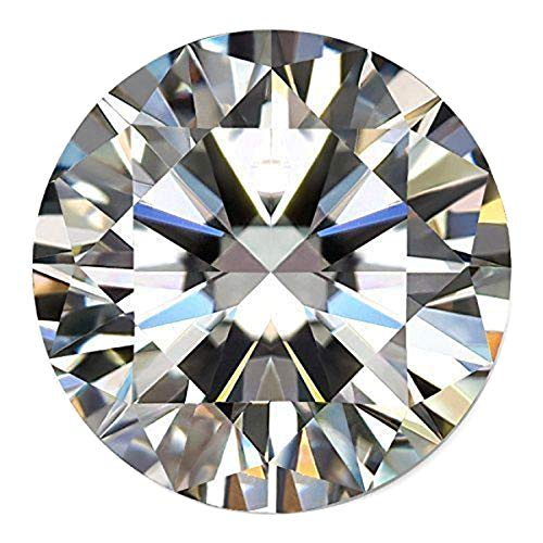 Weißer Moissanit Diamant 2.30 Ct Runder Brillantschliff Moissanite Echtes loser Moissanite Weiß (Diamant-moissanite Ring)