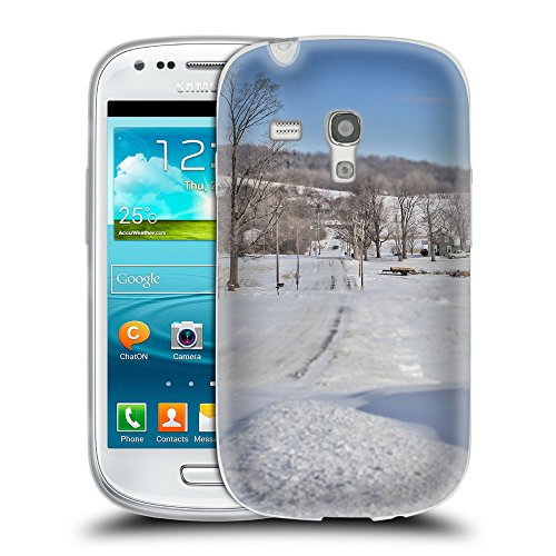 Super Galaxy TPU Gel Funda Carcasa Tapa Case Cover para // F00005155 neve d'inverno farm // Samsung Galaxy S3 MINI i8190