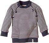 Lana Natural Wear Baby - Mädchen Pullover Pulli Momo, Gestreift, Gr. 80 (Herstellergröße: 74/80), Mehrfarbig (Ombre Blue-Rose Water 2203)