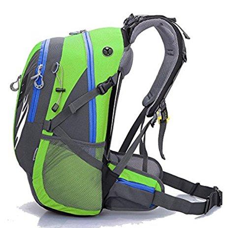 42L Rucksack Large Capacity Rucksack Reise Rucksack Camping Car Outdoor Tasche rosa / rot / grün / blau green