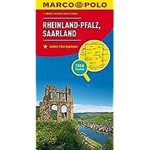 MARCO POLO Karte Deutschland Blatt 10 Rheinland-Pfalz, Saarland 1:200 000 (MARCO POLO Karten 1:200.000)