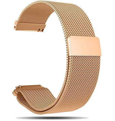 Ruentech Ersatzarmband für Fossil Gen 4 Q Venture HR Smartwatch-Band, 18-mm-Milanese-Armband für Fossil Damen Gen 4 Q Venture HR-Bänder (Rosegold)