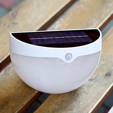 VICTORSTAR Solarleuchten, LED Solar Wandleuchte / Gartenleuchte, Licht & Bewegung Sensor, 6 LED Regenschutz Sicherheit Außenleuchte mit 2 Helligkeit für Garten, Park, Zaun, Terrasse, Deck, Hof, Haus, Auffahrt - N760A
