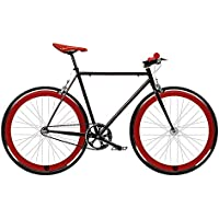 Bicicleta FIX 2 roja. Monomarcha fixie / single speed. Talla 53