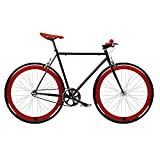 Bicicleta FIX 2 roja. Monomarcha fixie / single speed. Talla 56