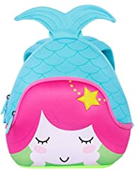 BINGONE Kids 3D Mermaid Backpack Children School Travel Bags Waterproof