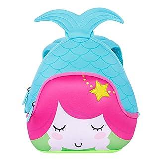 51lw22eenlL. SS324  - NOHOO Escuela de niños Sirena 3D Mochila Impermeable Bolsas de Viaje