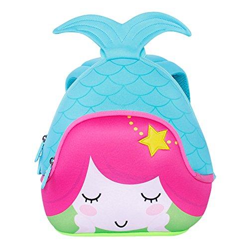 Imagen de nohoo escuela de niños sirena 3d  impermeable bolsas de viaje azul