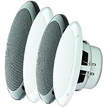 Altavoces resistentes e-audio Blanco 5 Dual Cone humedad (4 Ohms 80 W)