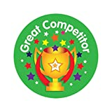 """Sticker Solutions 28 mm """"Great Competitor"""" Sticker (Pack of 125)"""