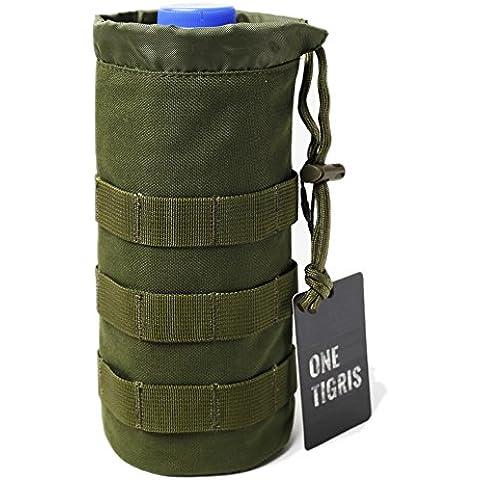 OneTigris - Tasca portabottiglia in mesh con sistema modulare MOLLE 1000D trasporto tattico per idratazione