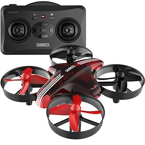 SANROCK Mini Drohne für Kinder und Anfänger GD65A RC Drone Quadrocopter mit Höhe-halten, Kopflos-Modus, EIN-Tasten-Rückkehr, Best Spielzeug Drone für Kinder, im Internet verfügbar