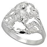 Plata Esterlina anillo de la rana de corte de diamante