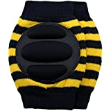 New Baby Crawling Knee Pad Toddler Elbow Pads 805516 Black-yellow