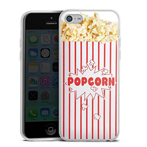 Slim Case Silikon Hülle Ultra Dünn Schutzhülle für Apple iPhone 5c Popcorn Kino Design - Iphone Case-kino 5c