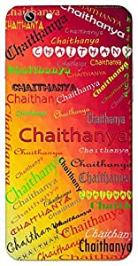 Chaithanya (Active Divine Radiance Energetic) Name & Sign Printed All over customize & Personalized!! Protective back cover for your Smart Phone : Xiaomi MI5