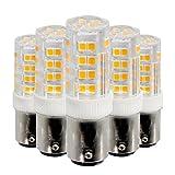 LED-Lampe energiesparende Augenschutz Auge Hause Business Office helle Beleuchtung AC 220-240V AC 110-130V (5PCS) Keramik Lampe MSFD (Farbe : Cool White-220V)