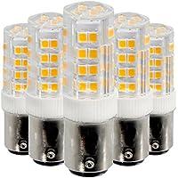 GS-ampoule BA15D 5W 52LED 2835SMD 400–500LM Blanco Cálido Color Blanco Blanco dimmable LED Cerámica Lámpara AC 220–240V AC 110–130V (5pcs), Blanco cálido, 220V