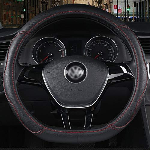 YYD Volkswagen usw. D-Typ Lenkradabdeckung - Vier Jahreszeiten universell, atmungsaktiv, Rutschfest, angenehm zu berühren 4 Farben für die Lenkradabdeckung Ihrer Wahl,Red