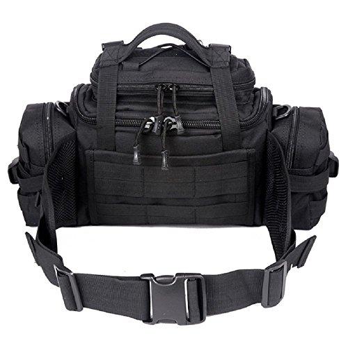 Herren Gürteltasche großer Reisen Sport Hüfttasche Outdoor Super-Taschen Bauchtasche,Schwarz Dunkelbraun