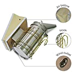 ASPECTEK Bee Hive Smoker, Beekeeping Equipment, Heavy Duty Stainless Steel Large Size, Superior Airflow Bellow and… 9