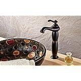 WYX@ Robinet salle de bain noir laiton antique sur bassin soulevé l'eau du robinet , basins leading high