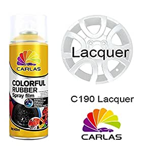 carlas 39 colourful rubber 39 spray paint clear lacquer 400ml can. Black Bedroom Furniture Sets. Home Design Ideas