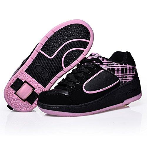 HUSKSWARE-Unisex-nios-Zapatos-con-Automtica-Ruedas-Zapatillas-de-Skate-Roller-Shoes-Regalos-Navidad-2016