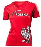 Polen 3197 Fussball Fanshirt Fan Shirt tshirt Fanartikel Artikel Frauen Damen T-Shirts Rot L