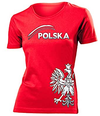 POLEN FANSHIRT FUSSBALL – FANARTIKEL T-Shirt Damen S-XXL