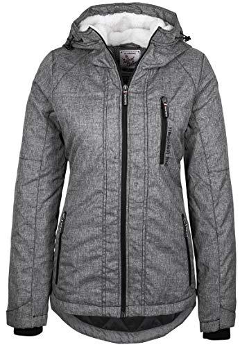 Sublevel Damen Übergangsjacke Winterjacke sportlich mit Kapuze Dark-Grey S