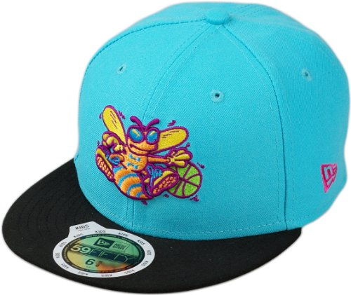 New Era Kinder Cap JUNIOR NEON CROWN CHARLOTTE HORNETS vice blue black, 6 5/8 (53.0cm) - Crown Cap Hüte
