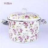 XiangYan Ad alta capacità doppio manico per la cottura di alimenti smaltato vapore per il fornello a induzione e stufa a gas,H - 28cm