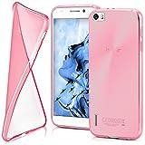 moex Huawei Honor 6 | Hülle Silikon Transparent Rosa Clear Back-Cover TPU Schutzhülle Dünn Handyhülle für Honor 6 Case Ultra-Slim Silikonhülle Rückseite