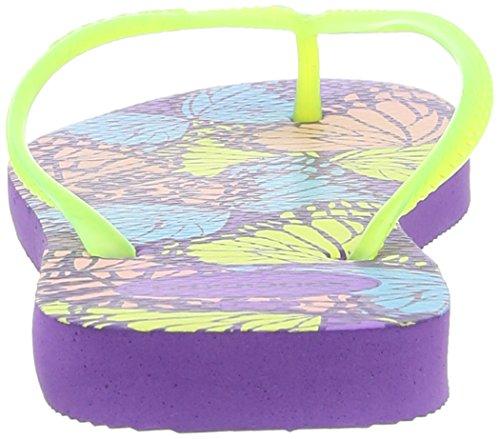 Havaianas Kids Slim Fashion, Tongs fille Multicolore (Dark Purple 3503)