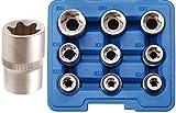 BGS 6425 Steckschlüsseleinsätze für E-Profil, E10-E24, 12, 5 (1/2), 9-tlg
