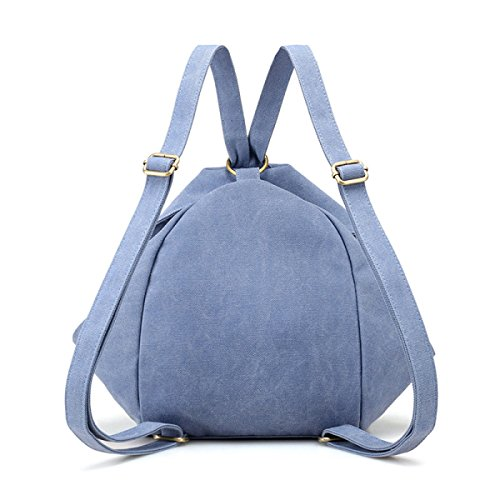 Borsa A Tracolla Multi-chiusura Lampo Lady Canvas Ladies E Studenti Di Borsa Stile Semplice Retrò,Black LakeBlue