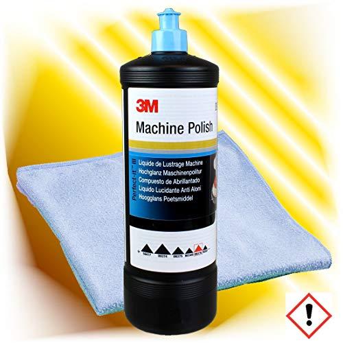 hai-tecs 3M Perfect-it III Hochglanz Maschinen Politur 09376 1 L + Mikrofaser Poliertuch Set