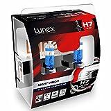 LUNEX H7 NIGHT VISION Bombillas halógenas Faros + 100% más luz 477 12V 55W PX26d 3600K duobox (2 units)