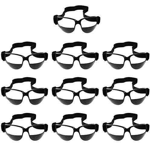 Baoblaze 10 Packs Anti Down Basketball Goggles Dribbeln Dribbling Specs Professionelle Basketball-Trainingshilfe Schwarz