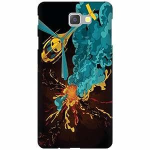 PrintlandDesignerHard Plastic Back Cover for Samsung Galaxy On Next -Multicolor