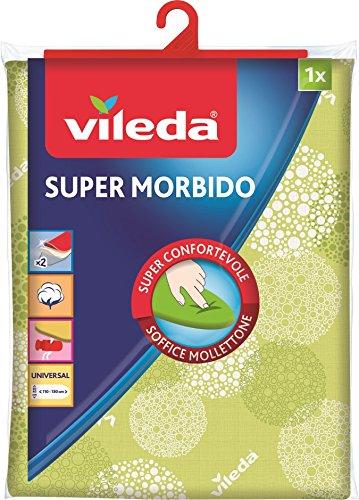 Vileda 142471 Supermorbido Bügelbrettbezug aus Baumwolle und weichem Molton, Einheitsgröße,110-130 x 30-45 cm, Farblich sortiert