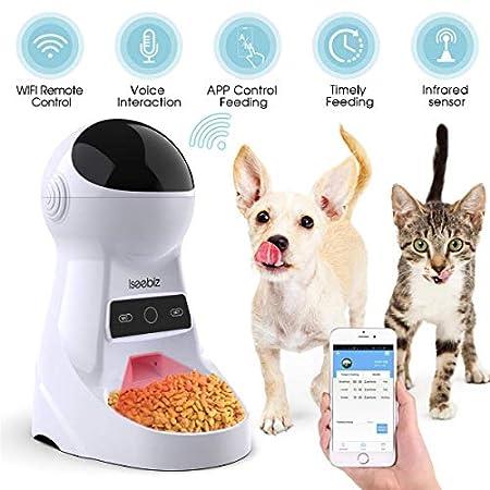 Iseebiz 6L Smart Futterautomat für Hunde und Katze mit WiFi,Futterautomat Steuerung mit APP/voreingestellter Timer/Ton…