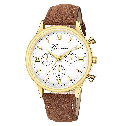 Paticess Herren Quarz Armbanduhr Lederband Luxus Mode Chronographen Analoge Quarzuhrwerk Uhren Uhr für Männer
