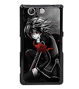 Anime Girl 2D Hard Polycarbonate Designer Back Case Cover for Sony Xperia Z4 Compact :: Sony Xperia Z4 Mini