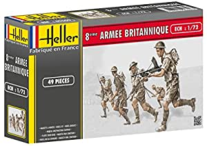 Heller Classic 49609 British Infantry Figurines 48 Pieces