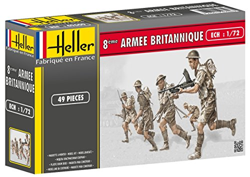 Heller 49609 - modellismo, soldati inglesi, ottavo reggimento, scala 1:72 [importato da francia]