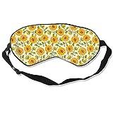 Augenmaske Vintage Sunflower Schlafmaske verstellbar atmungsaktiv Schlafmaske Augenmaske