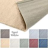 Designer-Teppich Pastell Kollektion | Flauschige Flachflor Teppiche fürs Wohnzimmer, Esszimmer, Schlafzimmer oder Kinderzimmer | Einfarbig, Schadstoffgeprüft (Gold, 200 x 200 cm)